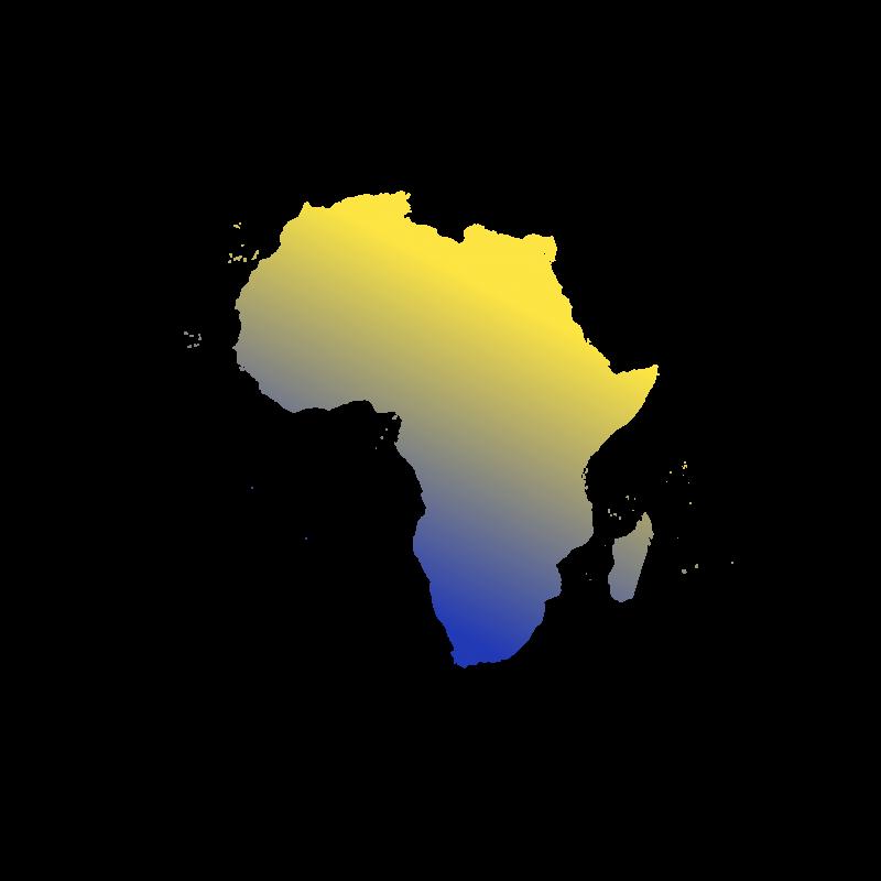 Illustration du continent Africain. Eu Coordination agence de traduction de documents dans les langues Africaines.