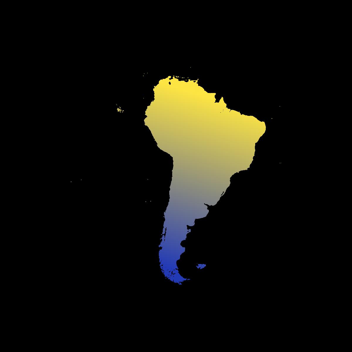 Illustration du continent Sud-Américain. Eu Coordination agence de traduction de documents dans les langues Américaines.