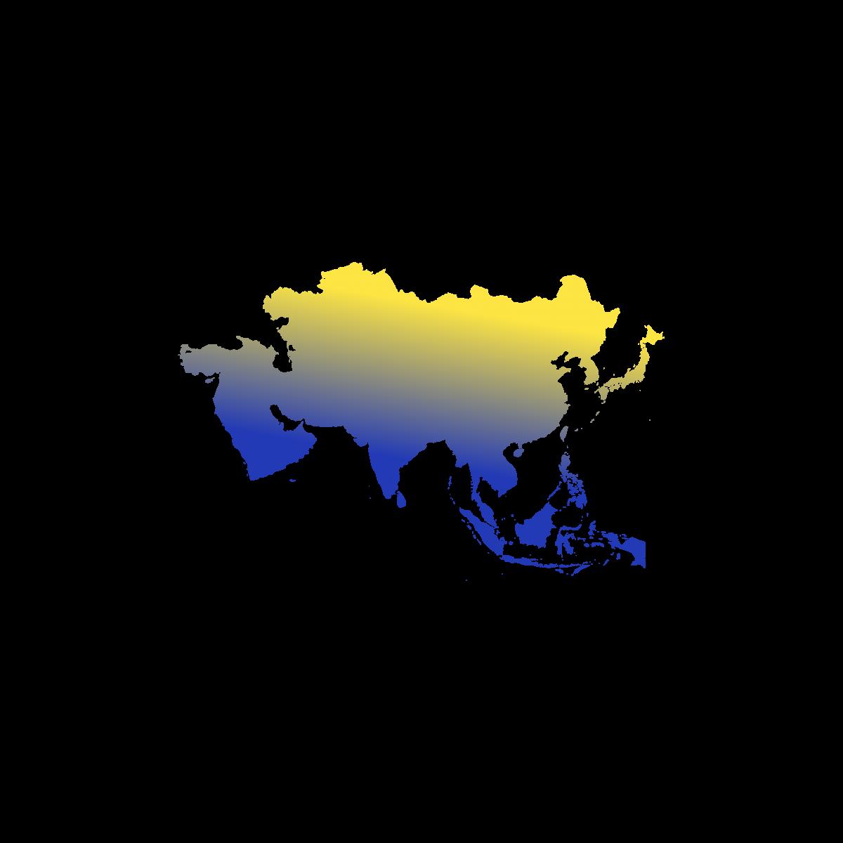 Illustration du continent Asie. Eu Coordination agence de traduction de documents dans les langues d'Asie.