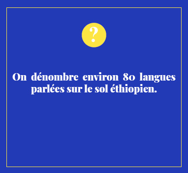 Illustration le saviez vous en Amharique. Eu Coordination agence de traduction de/vers l'Amharique.
