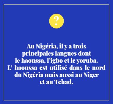 Illustration le saviez-vous en Haoussa. Eu Coordination agence de traduction de/vers le Haoussa.