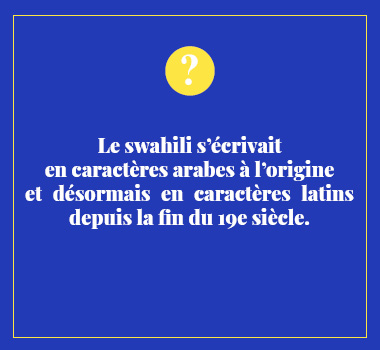 Illustration le saviez vous en Swahili . Eu Coordination agence de traduction de/vers le Swahili.
