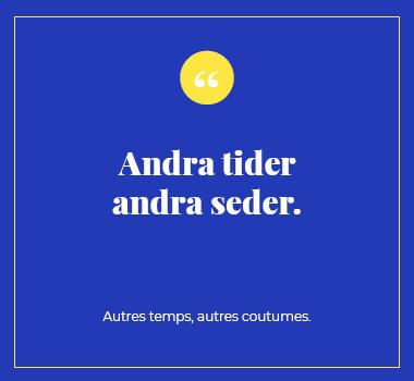 Illustration proverbe en Suédois. Eu Coordination agence de traduction de/vers le Suédois.