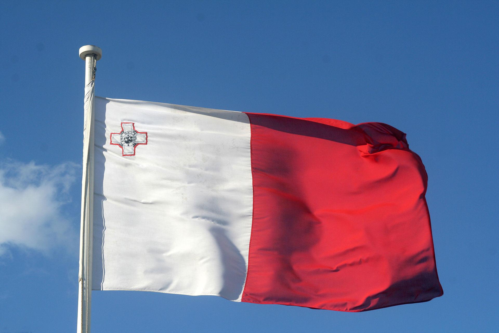 Image du drapeau Maltais. Eu Coordination agence de traduction de/vers le Maltais et plus de 60 langues.